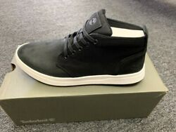 TIMERLAND MENS DAVID SQUARE CHUKKA BLACK  WHITE NUBUCK