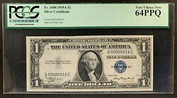 Nqc Fr. 1608 1 1935a Silver Certificate Rare Low Serial Number 00000016