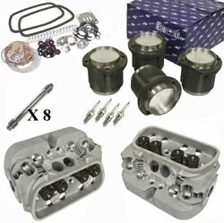 1914cc Air-cooled Vw Engine Rebuild Kit Top End Gtv-2 Heads And Pistons