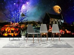 3d Starry Magic Witch I17 Halloween Cosplay Wallpaper Mural Poster An