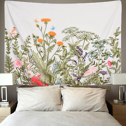 Art Narure Flowers Plant Tapestry Room Hippie Wall Hanging Psychedlic Tapestries