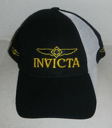 NWOT Invicta Watches Watch Logo Black & White Baseball Hat Cap