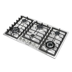 Top 34 Stainless Steel Built-in 6 Burners Stoves Cooktop Ng Lpg Gas Hob Cooker