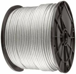Vinyl Coated Stainless Steel 304 Cable Wire Rope 7x19, Clear, 1/8 - 3/16