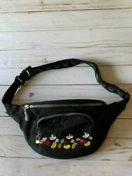 Disney Store Mickey Mouse Embroidered Sport Fanny Pack Bag Vintage