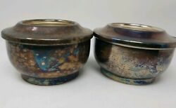 Vintage Benedict Indestructo Epns -nickel Silver Plated Candle Or Sterno Holders