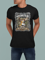 American Hunter White Tail Fever Deer Graphic Uni-sex T Shirt Sm-XL