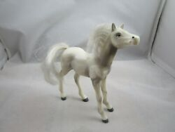 Vintage 1988 Hg Toys Gray And White Foul- Horse- Brushable Hair 4.5 X 4.0