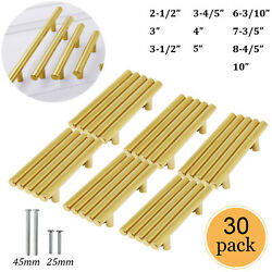 30pack Gold Kitchen Cabinet Pulls Stainless Steel Drawer T Bar Handles 2 3 5