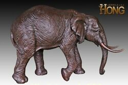 260 cm Western art deco pure bronze Elephas maximus Elephant Animal sculpture