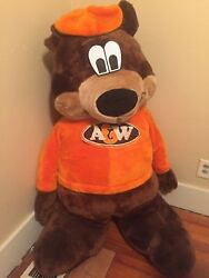 A & W RootBeer Bear Full Sized Stuffed  Highly Collectible Bear