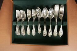 Tiffany & Co. Audubon Birds Silverware Set Sterling Silver 925 (113 Piece)