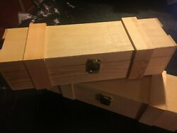 Darice Unfinished Wooden Wine Box, Hinged With Clasp Lot Of 40