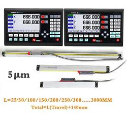 7andrdquo Lcd Display Screen Readout Linear Scale 25mm-3000mm For Milling Lathe Machine