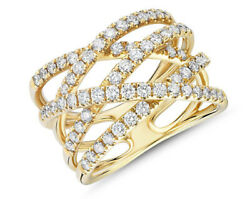 1.57ct Natural Round Diamond 14k Solid Yellow Gold Cluster Ring In Size 7 To 9