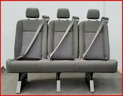 3 PASSENGER GRAY CLOTH RECLINABLE BENCH SEAT LONG UNIVERSAL FIT (MOST CARS)