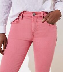 Ann Taylor Loft Skinny Crop Jeans Pants In Pink Size 24/00, 26/2, 27/4, 28/6 Nwt
