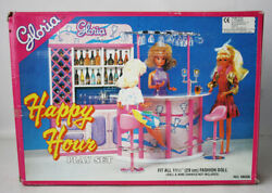 Vintage 90's Gloria Happy Hour Furniture Bar Playset For 11.5 Doll New Nos