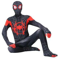 Spider Verse Miles Morales Spiderman Costume Kids Boys Girls Halloween Cosplay