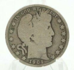 1904-o Barber Half Dollar 50c New Orleans Mint Very Nice Silver Coin You Grade