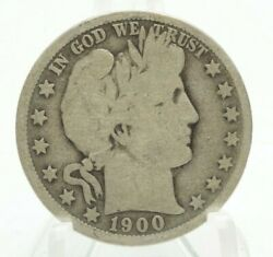 1900-o Barber Half Dollar 50c New Orleans Mint Very Nice Silver Coin You Grade