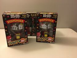 Mandm World Bubble Gum Machines Candy Dispensers. In Original Box. Never Used.