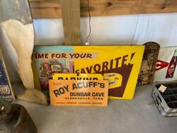 Vintage Metal Roy Acuff's Dunbar Cave Tennessee Sign Gas Station Store Cola Soda
