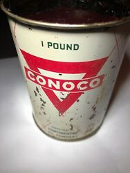 Conoco 'race Lube' Grease, 1960's 1 Lb. Metal Can.