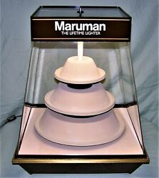 Vintage Maruman Lighter Department Store Counter Rotating Lighted Display Case
