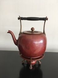 Antique Signed Gorham And Co. Japanese Aesthetic Movement Tea Kettle Stand Burner