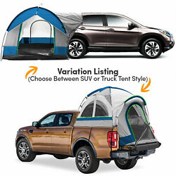 Universal Suv/truck Bed Camping Tent, Includes Rainfly + Storage Bag, Gray/blue