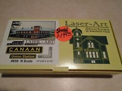 Branchline Laser-art Structure 859 N Scale Canaan Union Station New In Box