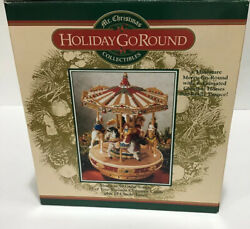 MR. CHRISTMAS HOLIDAY GO ROUND CAROUSEL 50 GREAT SONGS MINIATURE MERRY GO ROUND