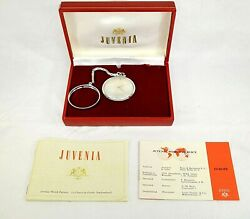Rare Vintage Juvenia Slim Pocket Watch With Chain Box And Paper Work 201200653