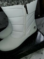 WOMENS SIZE 10 WATERPROOF TOTES BOOTS JENNIE WHITE NEW $34.99