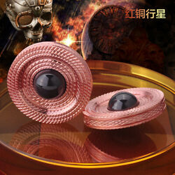 1 Copperandstainless Steel Planet Shape Hand Twisting Spinning Top Gyro Gyroscope