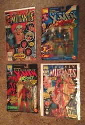 Deadpool And Cable Toys + New Mutants 87 And 98 First Appearance Comics