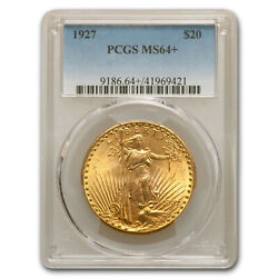 1927 20 Saint-gaudens Gold Double Eagle Ms-64+ Pcgs - Sku181083