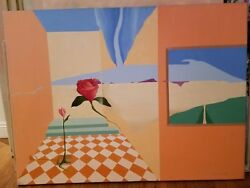 Barbara Gothard Original Signed Oil Painting, 1995, Surreal Style, Palm Springs