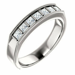 G-h Si2-si3 Diamond Menand039s Wedding Band In Platinum 3/4 Ct. Tw.