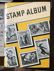 Vintage World Stamps Plus Pages Hobby Stamp Collecting Album Stamping
