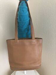 Coach Vintage Bleeker Tan Natural Leather Shoulder Tote Bucket Handbag 9305 $34.99
