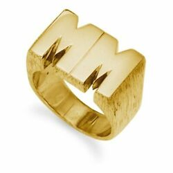 9ct Yellow Gold 29g Initial Ring
