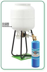 1 Lb Refillable Welding Propane Cylinder With Refill Adapter Kit 14.1 Oz