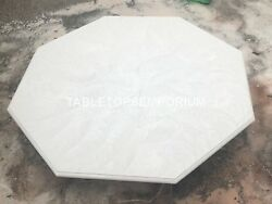 48 Octagon Marble Center Restaurant Coffee Table Top Occasional Decor E153c
