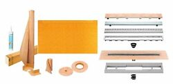 Kerdi-line Shower Kit 76 X 38 Kslt1930/965s Tray With Linear Drain And Grate