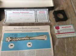 Vintage Redfield Scope 4 Power 4x Rifle Scope 1 Tube Ch Box Only 122001