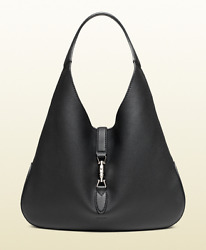 Womenand039s Jackie Soft Leather Hobo Bag Black Msrp 3190