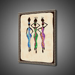 African Ladies Fetching Water Canvas Print Picture Wall Art Free Uk Delivery