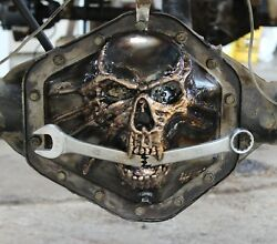 Differential Skull Diff Cover Custom All Metal Sculptures Built By Hand